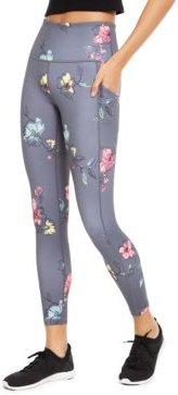 Floral-Print High-Waist Side-Pocket Leggings, Created for Macy's