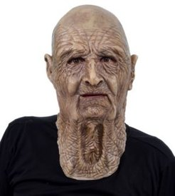 Stinker Old Man Latex Adult Costume Mask One Size