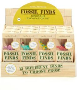 24 Pc Fossil Finds Excavation Kit with Dino Figure in Gift Box