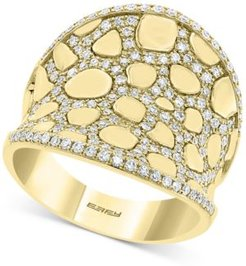 Effy Diamond & Polished Gold Concave Statement Ring (5/8 ct. t.w.) in 14k Gold