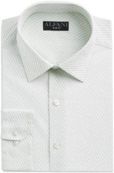 Slim-Fit Performance Stretch Striped Cube Dress Shirt, Created for Macy's
