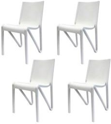 Stackable Modern V Dining Chair, Set of 4