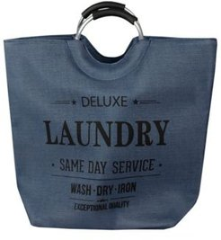 Hds Trading Corp Deluxe Laundry Canvas Hamper Tote with Soft Grip Handles