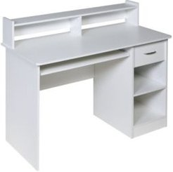 Essential Computer Desk, Hutch with Pull-Out Keyboard