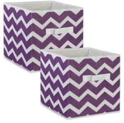 Non-woven Polyester Cube Chevron Square Set of 2