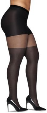 Curves Plus Size Illusion Thigh High Sheer Tights