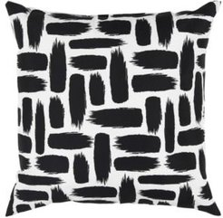 """Paint Stripe Polyester Filled Decorative Pillow, 22"""" x 22"""""""