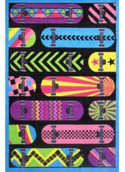 """Fun Time Gnarly Boards 19"""" x 29"""" Area Rug Bedding"""