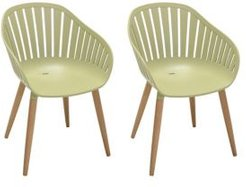 Nassau Outdoor Arm Dining Chairs Finish with Legs - Set of 2