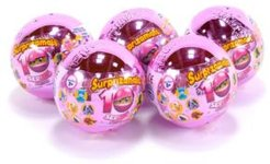 Surprizamals, Mystery Balls with Collectible Plush Toy, 5 Pack