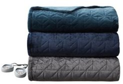 Pinsonic Heated Quilted Blanket, Full 84 x 80 Bedding