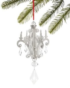 Typescript Glittered Chandelier with Dangling Clear beads, Created for Macy's