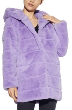 Jill Hooded Faux-Fur Coat, Created for Macy's