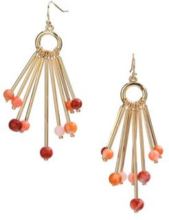 Gold-Tone Beaded Stick Chandelier Earrings, Created for Macy's