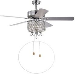 """Fengren 52"""" 3-Light Indoor Hand Pull Chain Ceiling Fan with Light Kit"""
