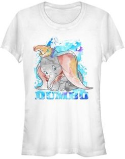 Watercolor Dumbo Short Sleeve T-shirt