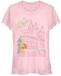 Lady and the Tramp Cross Stitch Home Short Sleeve T-shirt