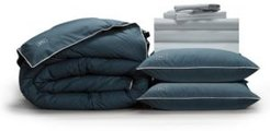Classic Cool Crisp Perfect 10-Piece Bedding Bundle with Down-Alt Gel Fiber, King