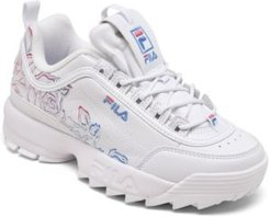 Disruptor Ii Floral Casual Athletic Sneakers from Finish Line