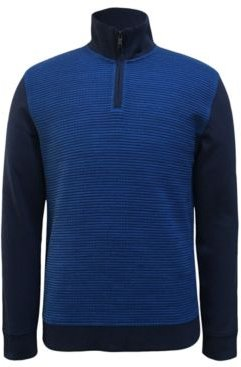 Textured Colorblocked Quarter-Zip Sweater, Created for Macy's