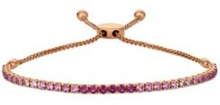 Pink Ruby (1-3/4 ct. t.w.) & White Sapphire (1/4 ct. t.w.) Ombre Bolo Bracelet in 14k Rose Gold