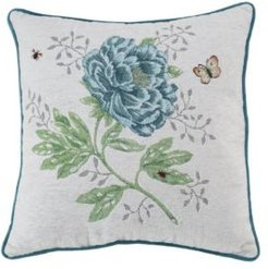"""Butterfly Meadow Tapestry Pillow, 18"""" x 18"""""""