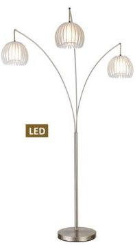 """Zucca 83"""" 3-Arch Led Floor Lamp"""