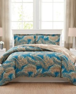 Banana Palm 3-Pc. Reversible Full/Queen Comforter Set, Created for Macy's Bedding