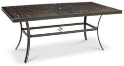 """Park Gate Cast Aluminum 68""""x 38"""" Outdoor Dining Table, Created for Macy's"""