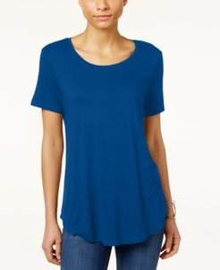 Petite Shirttail-Hem Top, Created for Macy's