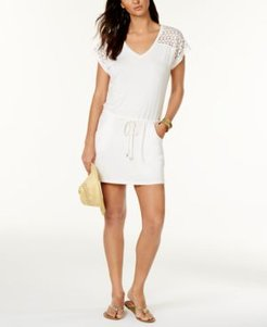 Crochet-Shoulder Tunic Cover Up Women's Swimsuit