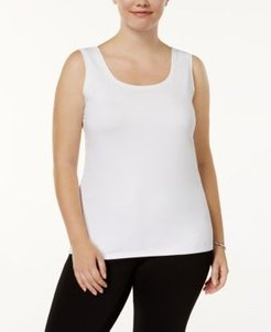 Plus Size Scoop-Neck Basic Tank, Created for Macy's