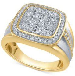 Diamond Two-Tone Cluster Ring (1/2 ct. t.w.) in Sterling Silver and 14k Gold-Plated Sterling Silver