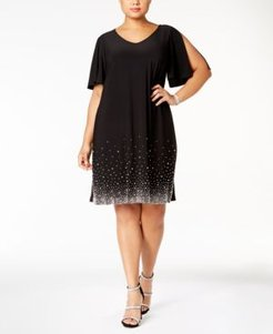 Plus Size Beaded Shift Dress