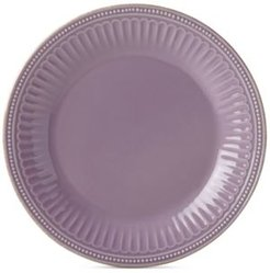 French Perle Groove Violet Dinner Plate