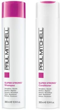 Super Strong Shampoo & Conditioner (Two Items), 10.14-oz, from Purebeauty Salon & Spa