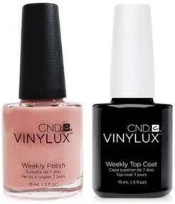 Creative Nail Design Vinylux Pink Pursuit Nail Polish & Top Coat (Two Items), 0.5-oz, from Purebeauty Salon & Spa