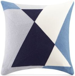 """Aero 20"""" Square Embroidered Abstract Decorative Pillow"""