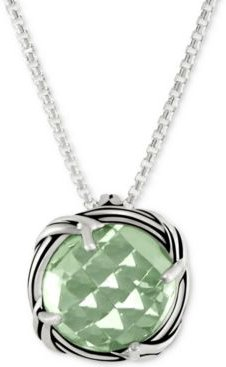 "Prasiolite 20"" Pendant Necklace (4 ct. t.w.) in Sterling Silver"
