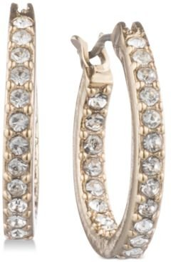 """Pave Extra Small 1/2"""" Small Hoop Earrings s"""