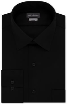 Fitted Stretch Wrinkle Free Sateen Solid Dress Shirt