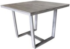 Driftwood Teak Contemporary Bay Side Outdoor Square Dining Table