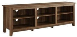 """70"""" Wood Media Tv Stand Storage Console"""