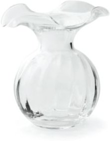 Hibiscus Glass Small Fluted Vase