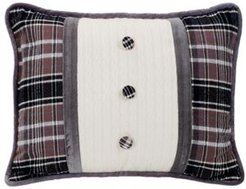 "Oblong 16x21"" Pillow with Covered Button"