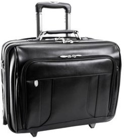 """Lasalle 15"""" Wheeled Laptop Overnight with Removable Briefcase"""