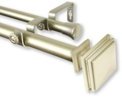 """Bedpost Double Curtain Rod 1"""" Od 28-48 inch"""