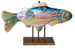 """18"""" Fish with Gold Kissed Stand"""
