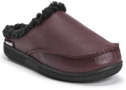 Faux Leather Clog Slippers Men's Shoes