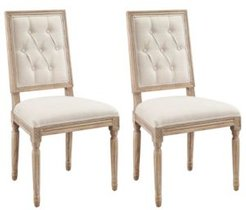 Avalon Tufted Square Back Dining Chairs, Set of Two